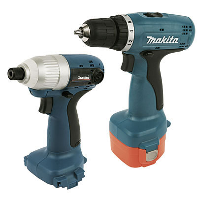 Makita Cordless drill/driver and cordless impact driver sat side by side